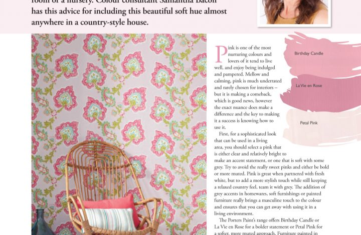 Country Home Ideas – Pretty in Pink