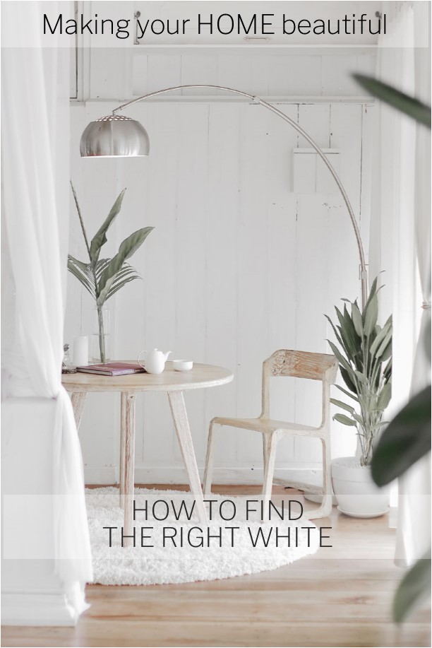How to find the right white