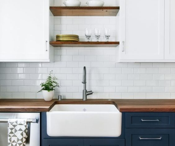 Have you considered using blue for your kitchen cabinetry?