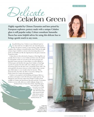 How to use delicate Celadon Green