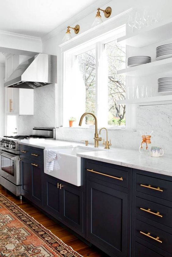 Have you ever considered blue for your kitchen cabinetry
