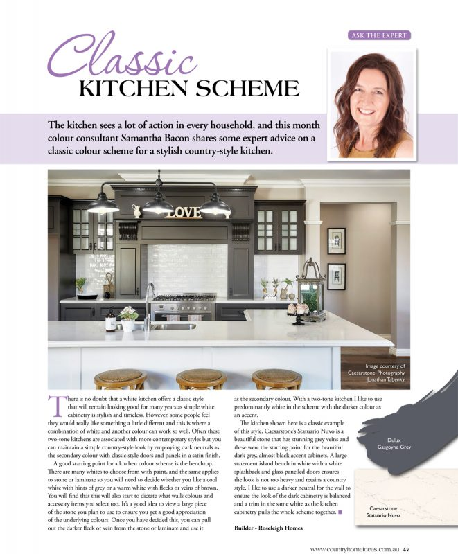 Country Home Ideas - Classic Kitchen Scheme