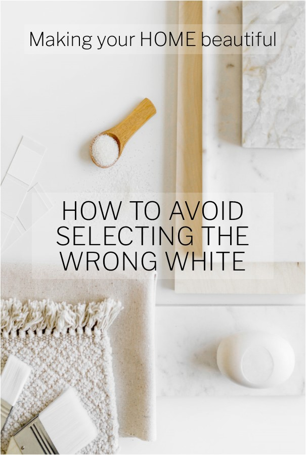 How to avoid selecting the wrong white