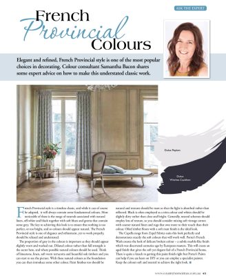 Country Home Ideas - French Provincial Colours