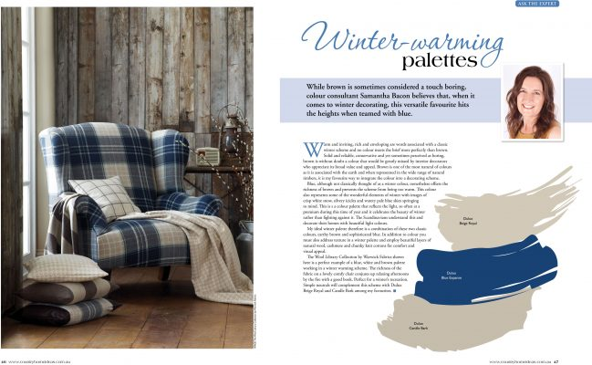 Country Home Ideas magazine - winter warming colour palettes