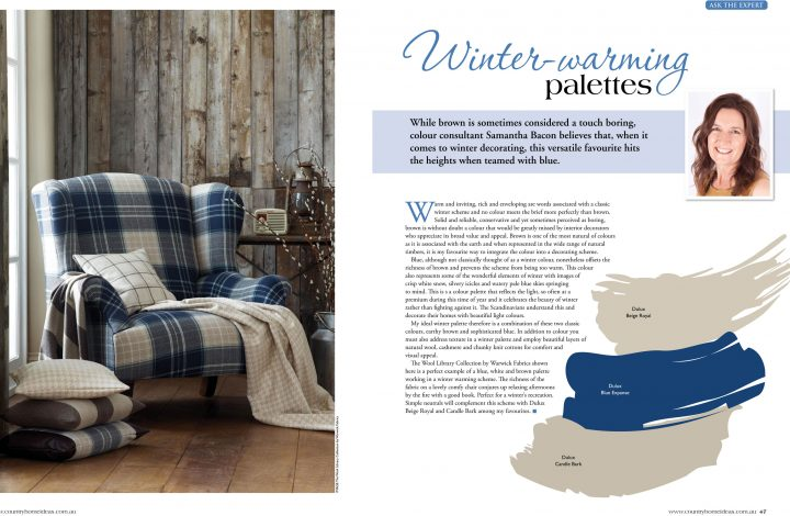 Country Home Ideas – Winter Warming Palettes