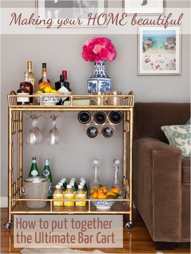 The ultimate bar cart