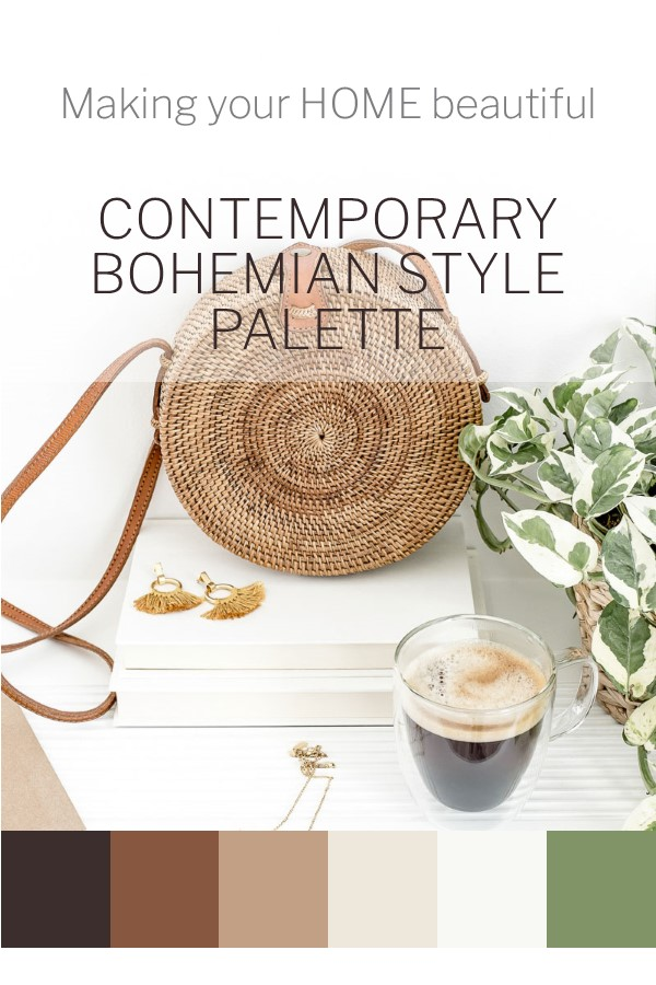Contemporary Bohemian colour palette