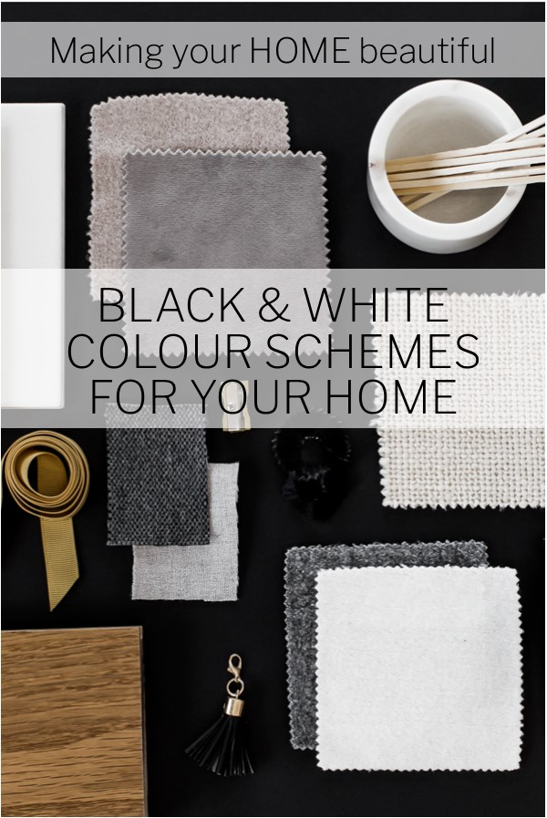 Black & White colour schemes for your home