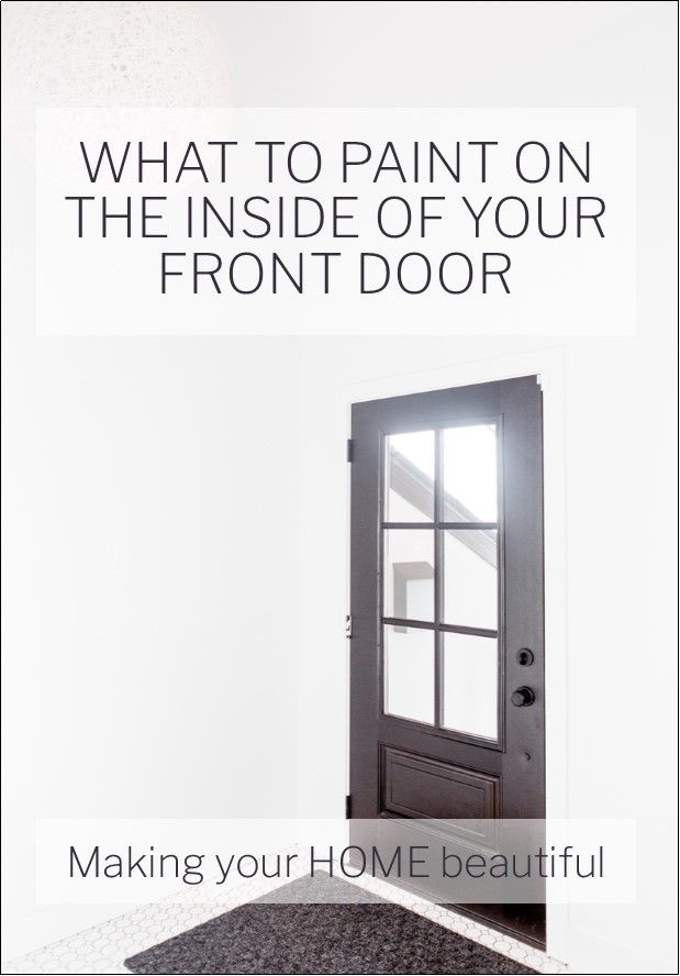 What to paint on the inside of your front door