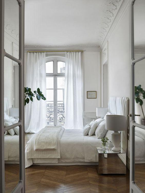 Stylish white bedrooms