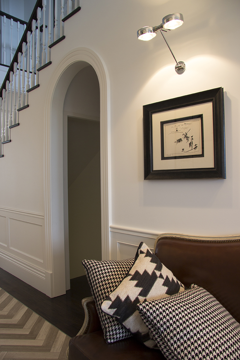 Wainscoting detail in hallway