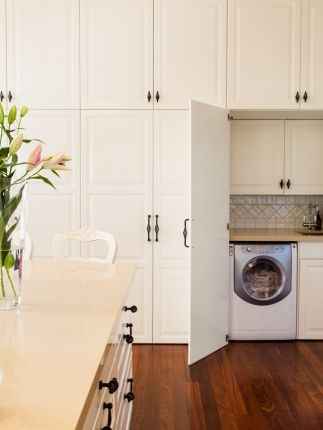 Incorporating a European Style laundry