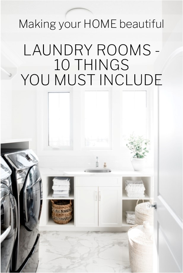 10 things you must include in a Laundry room
