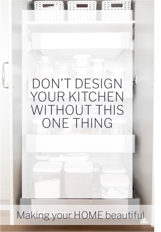 Don't design your kitchen without this ONE thing