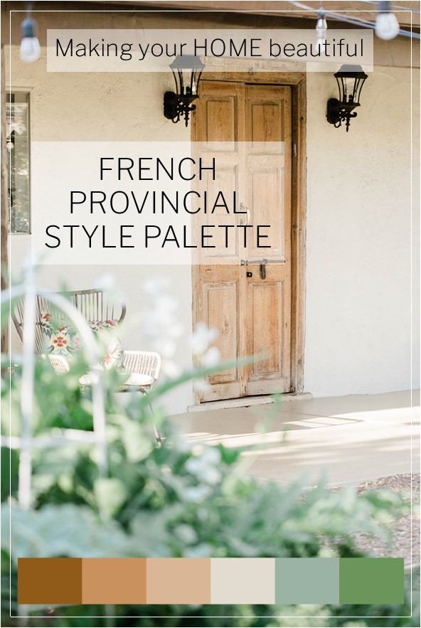 French Provincial Style Colour Palette