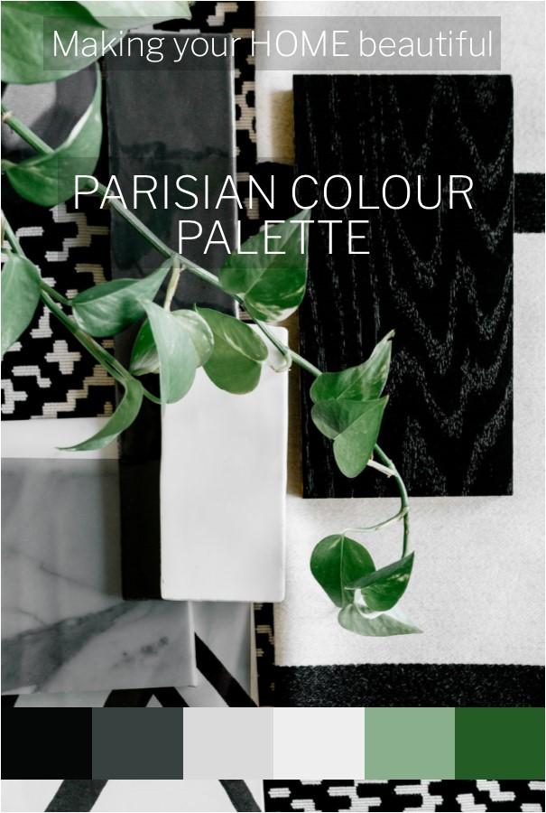 A Parisian colour palette
