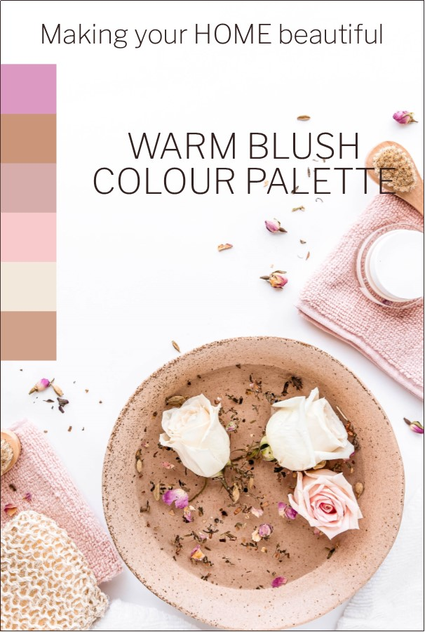 How to decorate with a warm blush colour palette