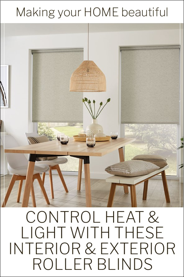 Regulating heat and light with roller blinds