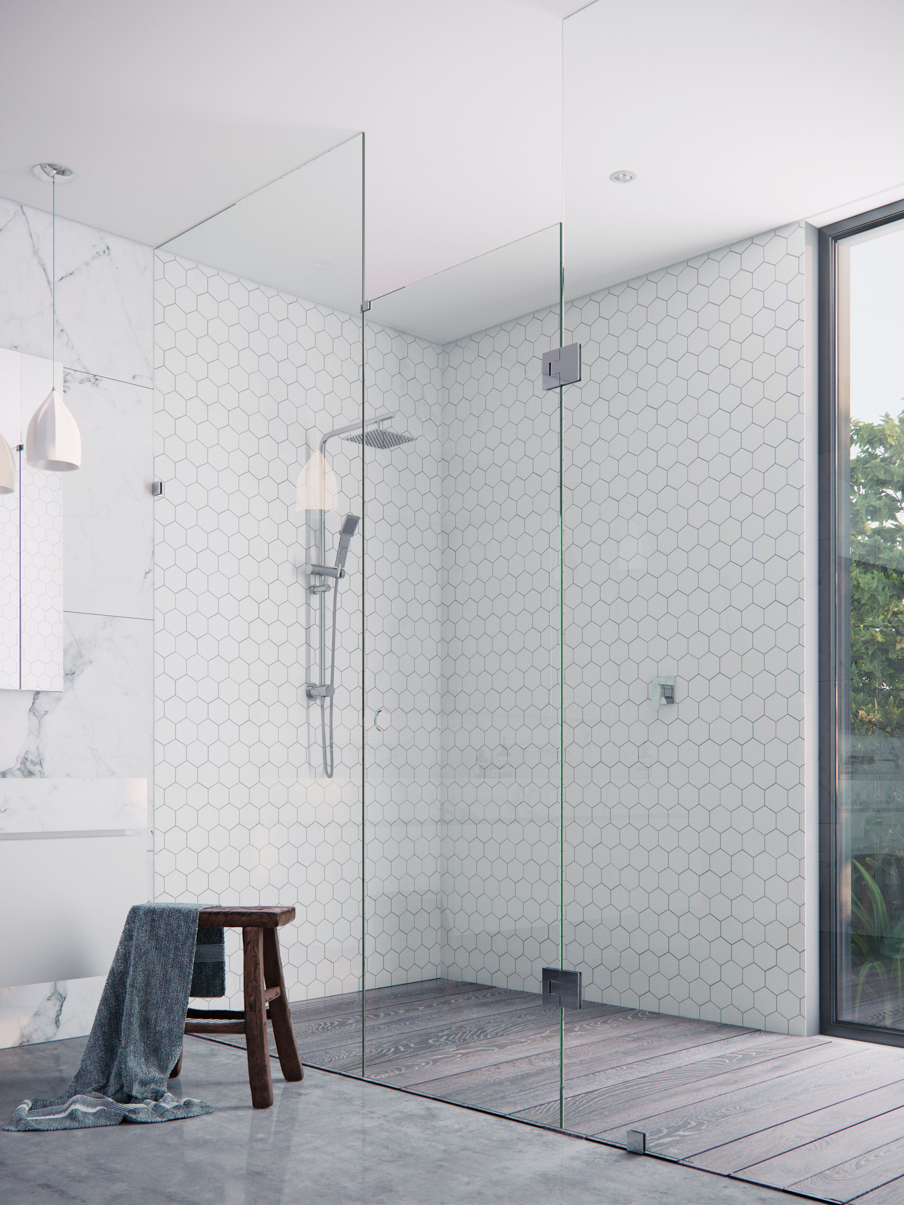 Choosing the right style of showerscreen