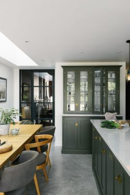 Have you considered green for your kitchen cabinetry