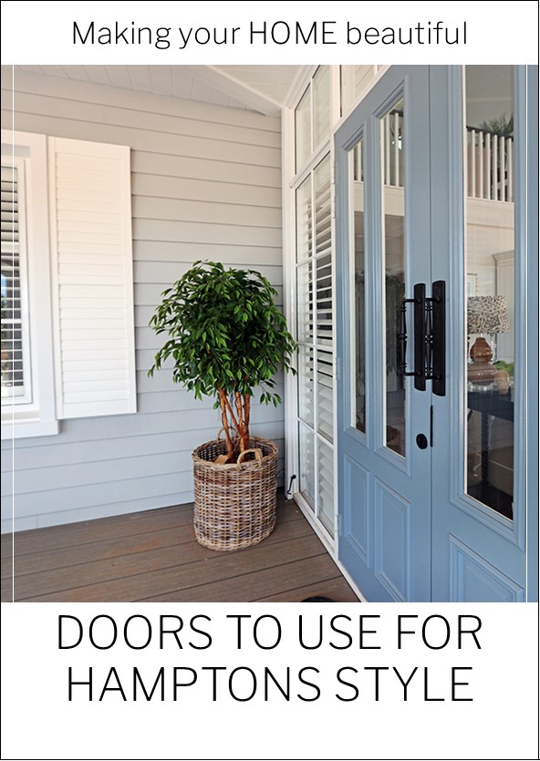 Doors to use for a Hamptons Style