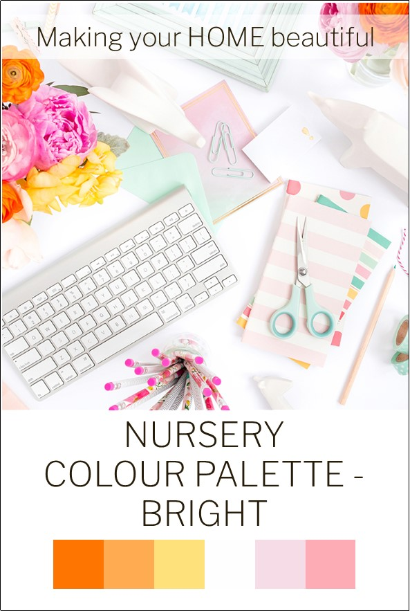 Uplifting and bright colours for a Nursery