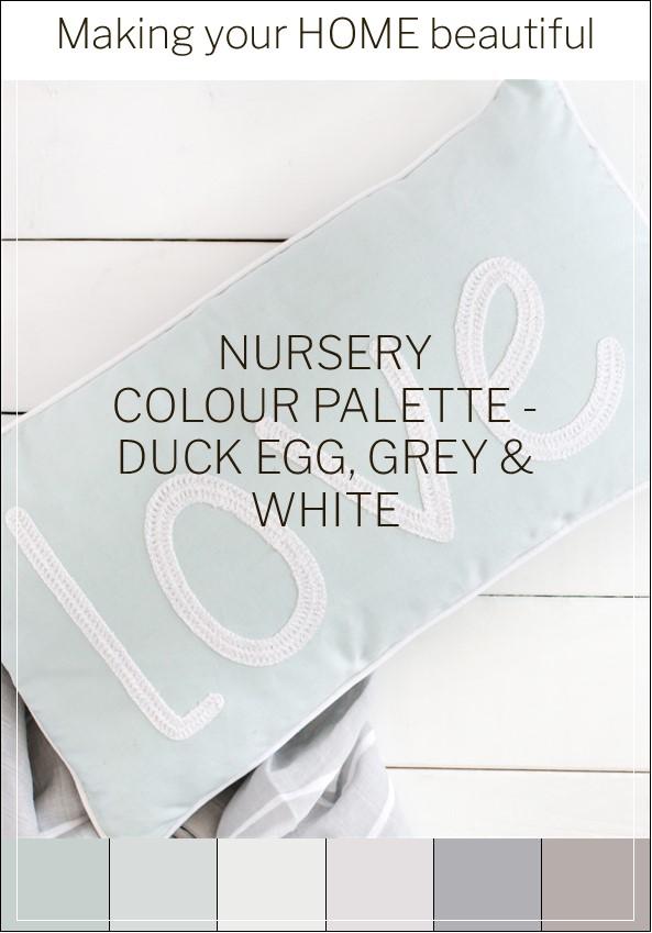 Duck Egg Blue Nursery colour scheme