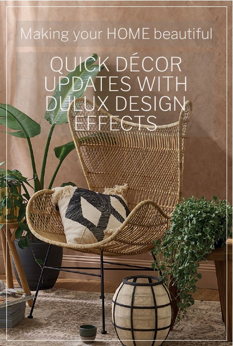 Quick Decor update with Dulux Design Effects