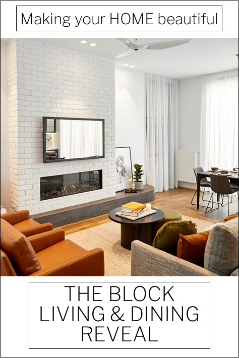 The Block 2020 Living Dining reveal