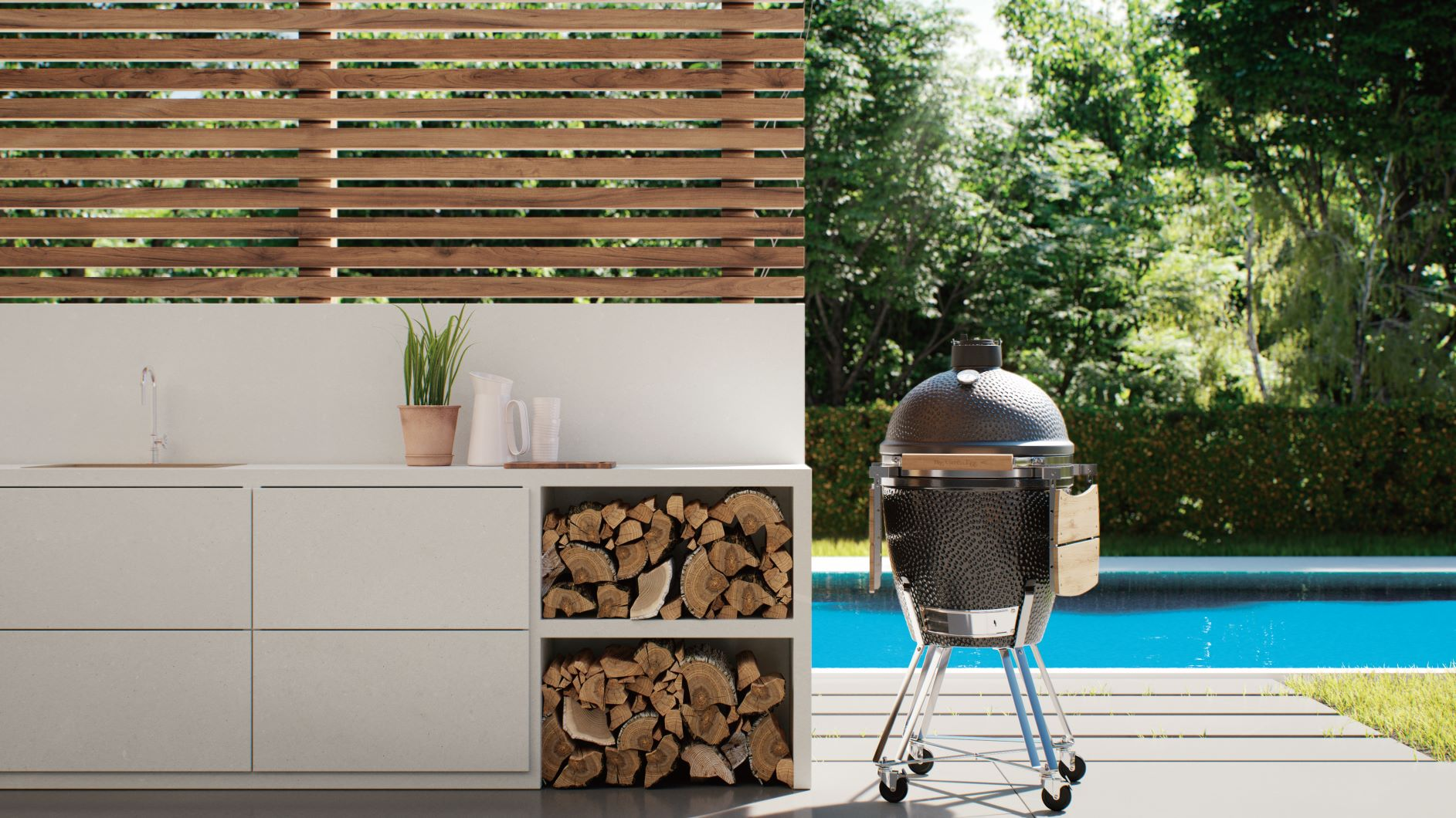 Connect the indoors to the outdoors with Caesarstone