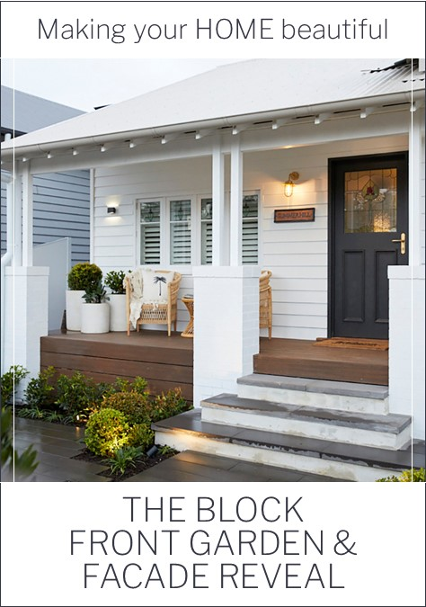 The Block 2020 Front Garden and Facade reveals