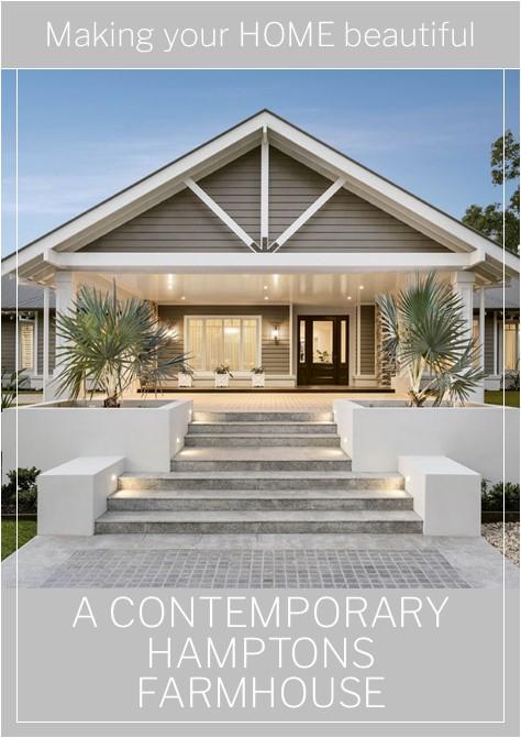 A contemporary Hamptons Farmhouse