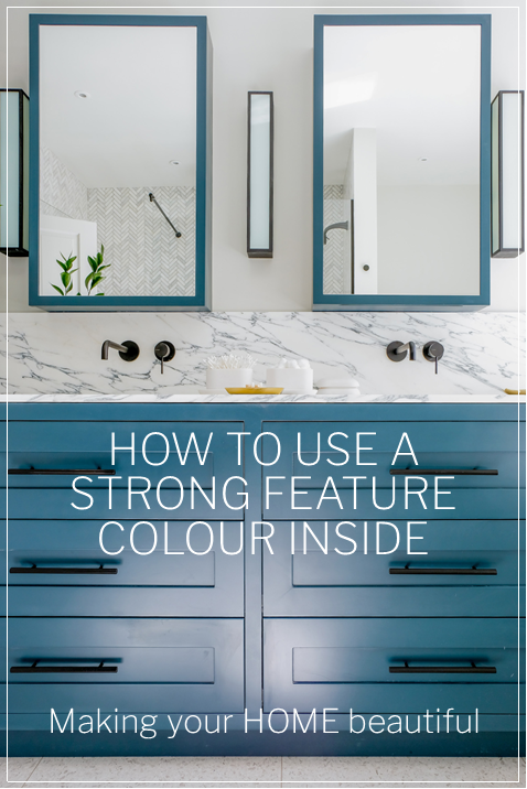 How to use a strong feature colour